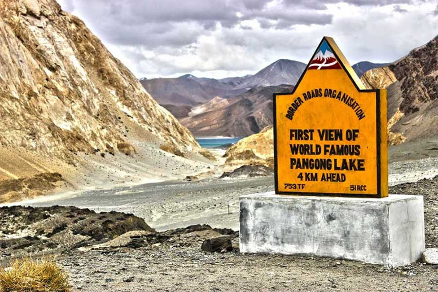 First View of World Famous Pangong Lake