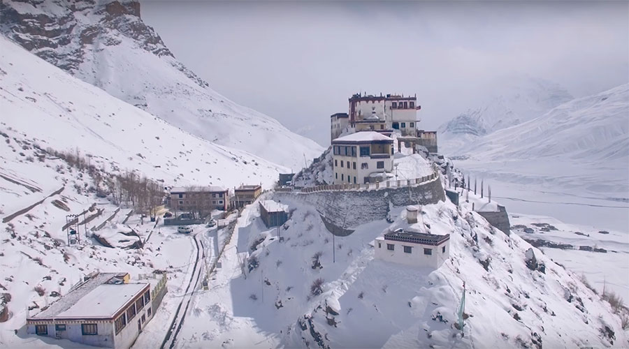Key Monastery in Winter Spiti Valley