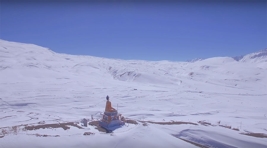 Langza in Winters Spiti