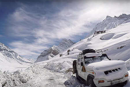 White Spiti Valley in Winters